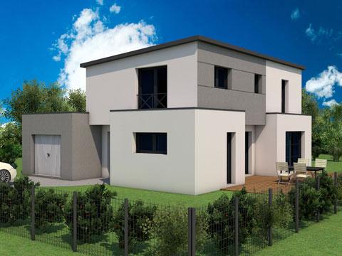 Construction de maison neuve et moderne à Etrelles près de Vitré en ...